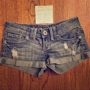 Hydraulic Denim Short Shorts Sz 1/2